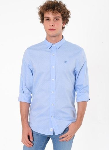 Timberland Ls Tioga River Texture Shirt Slim Mavi